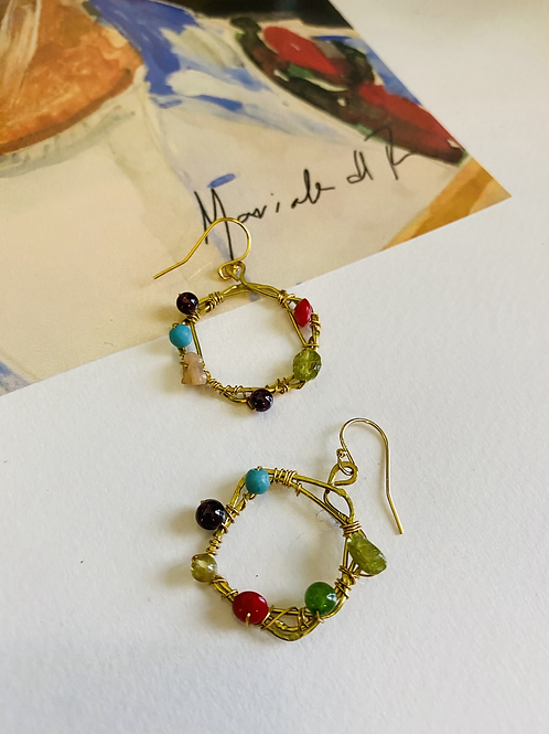 Colorful Wired Hoops