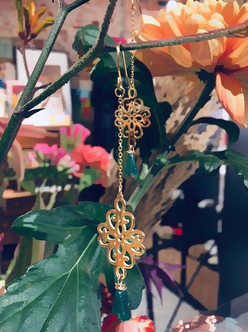 Boucles d'oreilles Romance en plaqué or