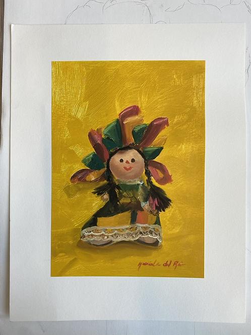 Mexican Doll Print
