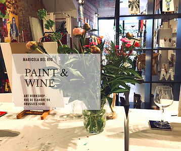 Art Workshops Brussels Painting and Wine by Maricela del Rio