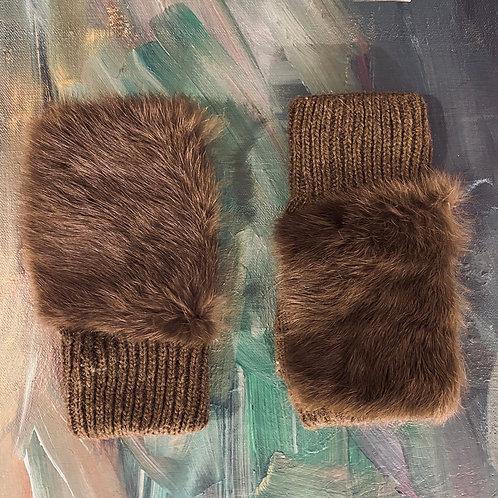 Fur Fingerless Gloves