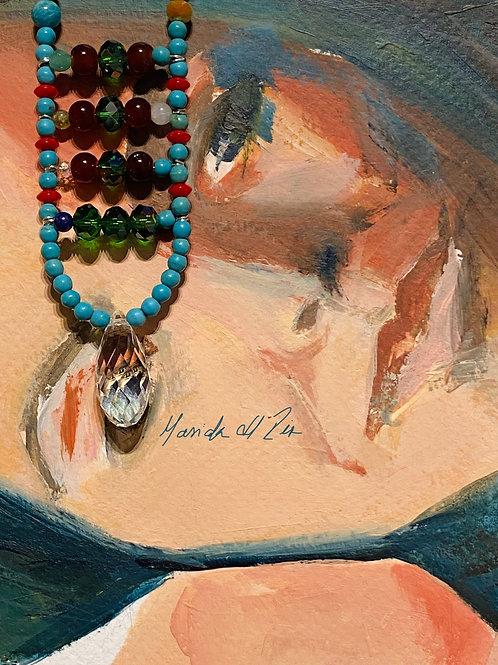 Boho Necklace  01| Gemstones and Swarovski | made in Brussels