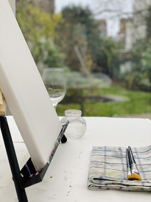 Painting and Wine Workshop Brussels  | Maricela del Rio