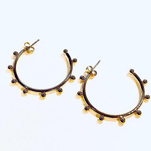 14k Gold Filled Hoops Luna Collection