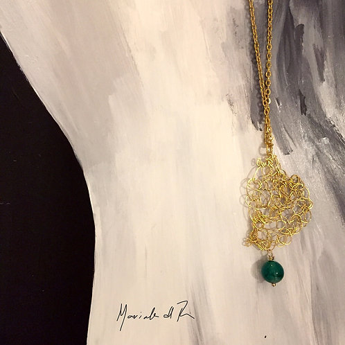 Gold Plated Abstract Necklace