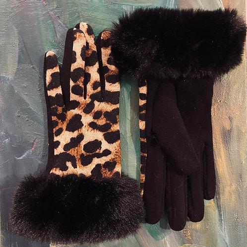 Animal Print Winter Gloves