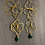 Thumbnail: Abstract Flowers - Earrings Gold Plated