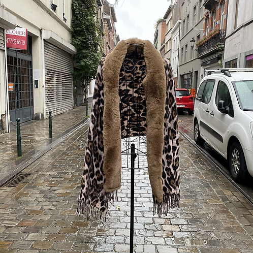Animal Print Pashmina Fur