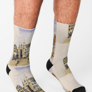 Grand Place Brussels Socks