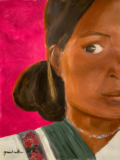 Half Face Indigenous Print
