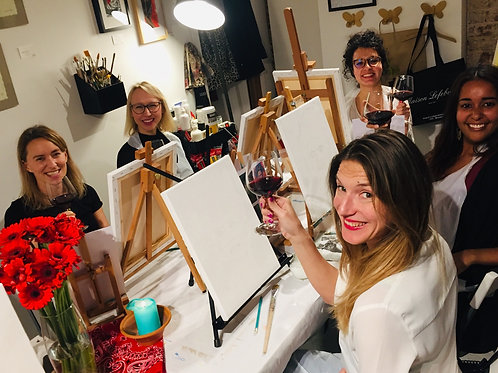 Atelier peinture et vin