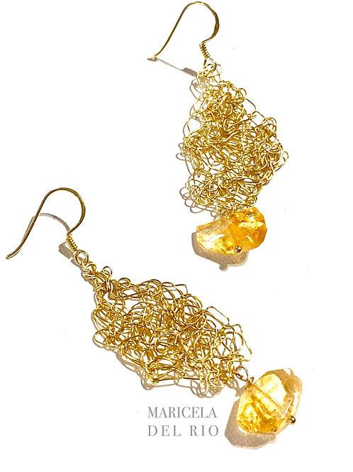 Butterfly Earrings | Gold Filled | Citrine
