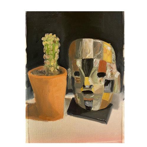 La Máscara de Oaxaca y El Cactus   Inkjet Print