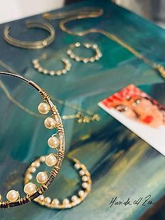 Gold Plated Hoop Earrings made in brussels Belgium