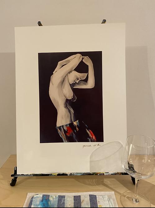 Nude print   Sarapes Mexicanos series