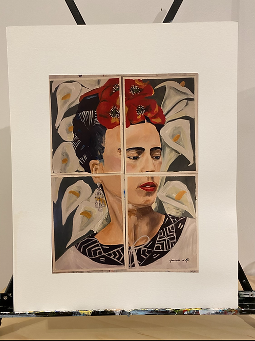 Frida y las Flores