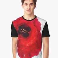 Art Wear Flower T-shirt Men