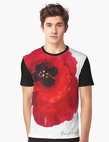 Art Wear Flower Tshirt Men