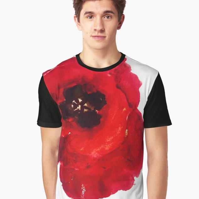 Art Wear Flower T-shirt Men