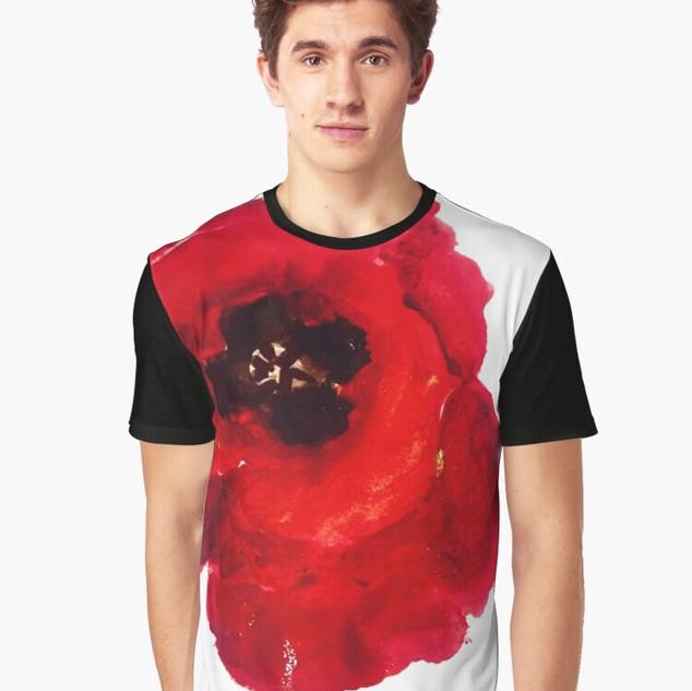 Art Wear Flower T-shirt Hommes