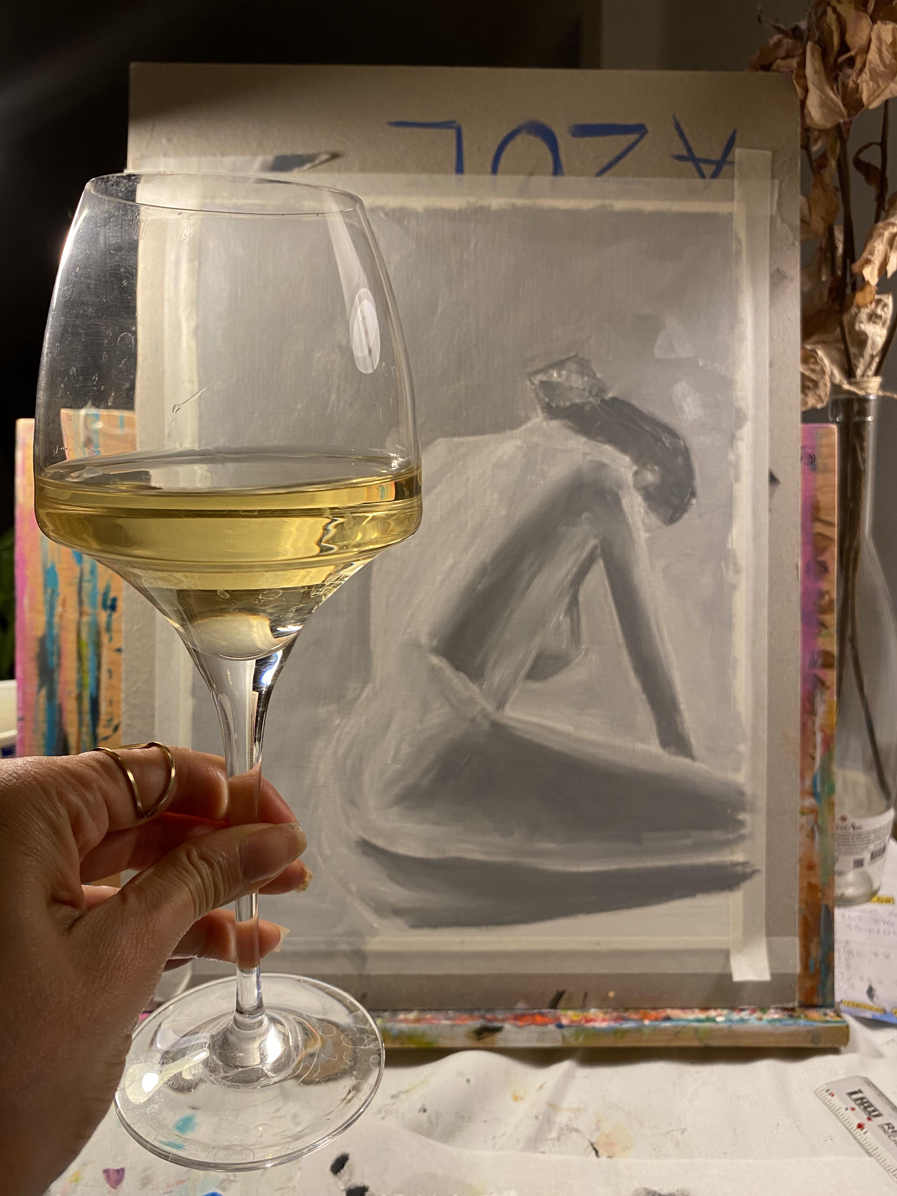 Painting and Wine