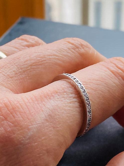 Silver Ring infinity zircon