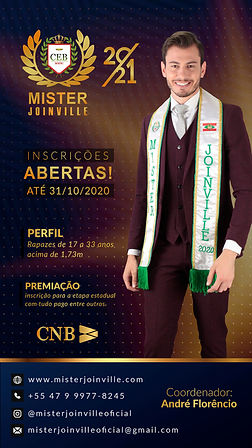 Inscrição Mister Joinville 2021