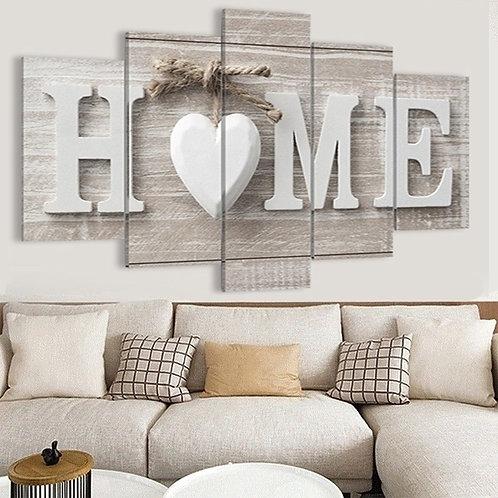 "Leinwadbild ""Home"""