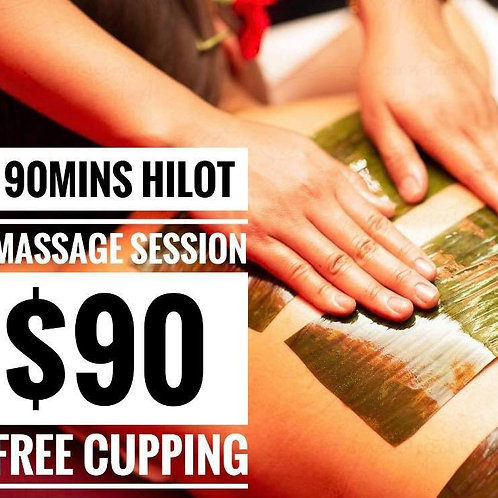 90 Min Full Body Hilot with Cupping