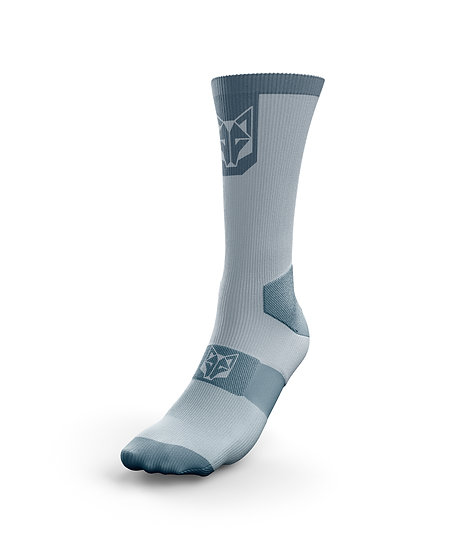 Cycling Socks High Cut Turquoise & Steel Blue
