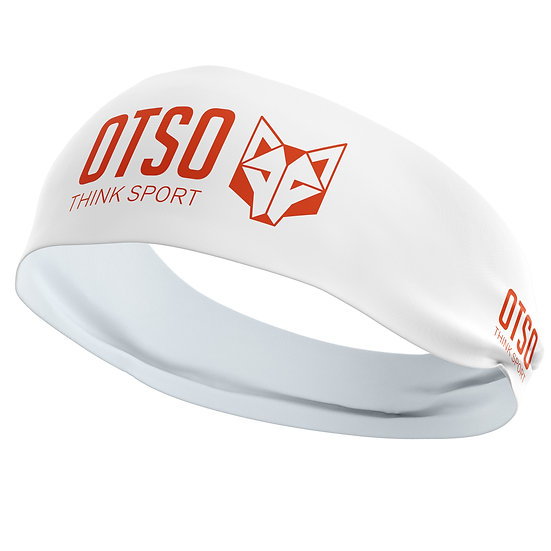 Headband Otso Sport White / Fluo Orange