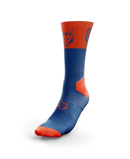 Multi-Sport Socks High Cut Navy Blue / Orange