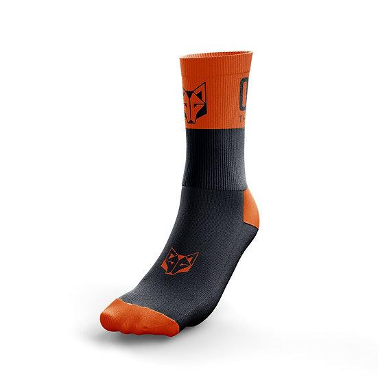 Multi-Sport Socks Medium Cut Black / Fluo Orange