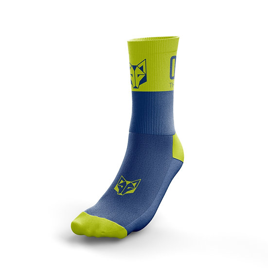 Multi-Sport Socks Medium Cut Electric Blue / Fluo Yellow