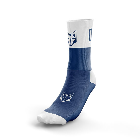 Multi-Sport Socks Medium Cut Electric Blue / White