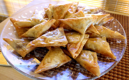 Honey-dipped Pastries stuffed with Almond Paste prepared by MaryLou