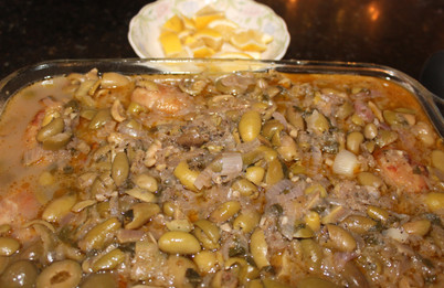 Chicken Smothered with Olives from The Food of Morocco prepared by Becky