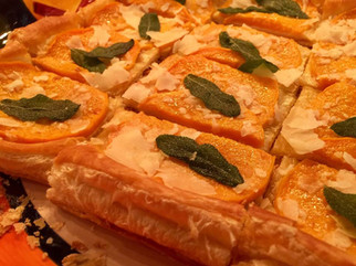 Butternut Squash Tart with Fried Sage prepared by Mary