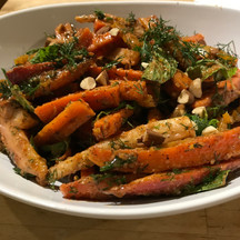 Roasted carrot salad with chamoy from Flavor prepared by MaryLou