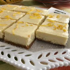 Limoncello Cheesecake Squares prepared by Michele