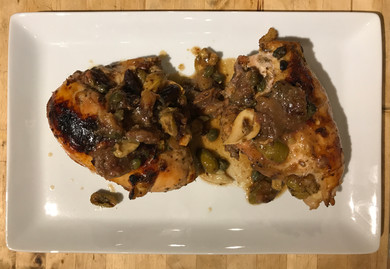 Chicken Marbella from Simple prepared by MaryLou