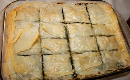 Classic Spanakopita, Spinach Pie prepared by Kate