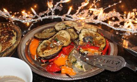 Roasted Vegetable Torte from Barefoot Contessa prepared by Michele