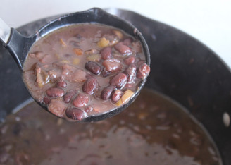 Potaje de Frijoles Negros (Black Bean Pottage} from The Cuban Table prepared by Christina