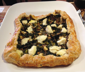 Swiss Chard and Herb Tart with Young Cheese prepared by Meredyth
