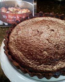 Chocolate-Dulce de Leche tart prepared by Susan B