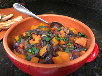 Roasted Squash and Grapes prepared by Adèle