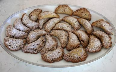 Stuffed Lenten Cookies from Ikaria prepared Becky