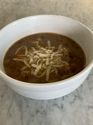 Lentil & Barley Soup from Essential Pépin  prepared by Julia