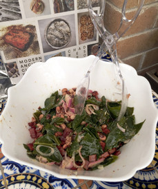 Black-Eyed Peas, Ham & Collards from Tartine All Day prepared by Susie
